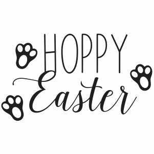 Hoppy Easter paw svg cut file