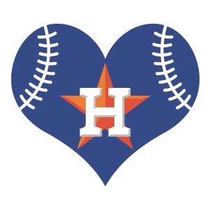 Houston Astros Heart Logo Vector