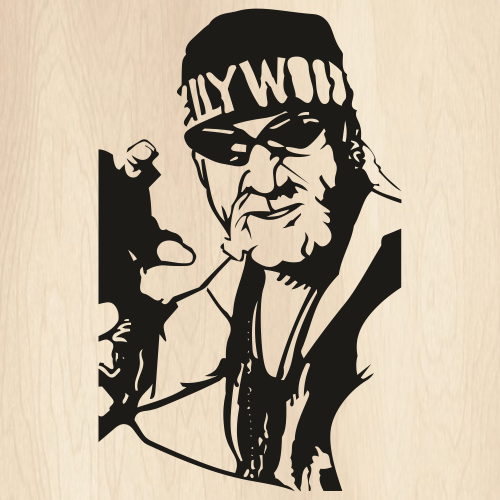 Hulk Hogan Face Svg