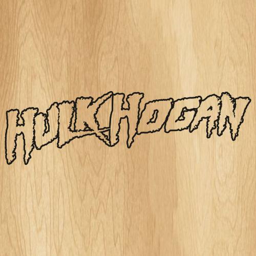 Hulk Hogan Outline Svg