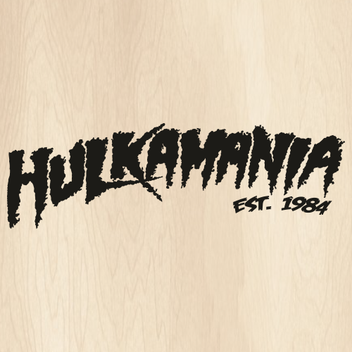 Hulkamania Est 1984 Black Svg