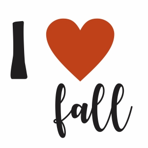 I Love Fall Svg