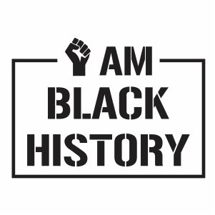 I am Black History Vector