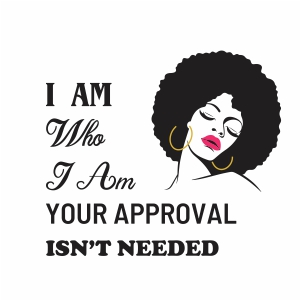 I am who girl vector file