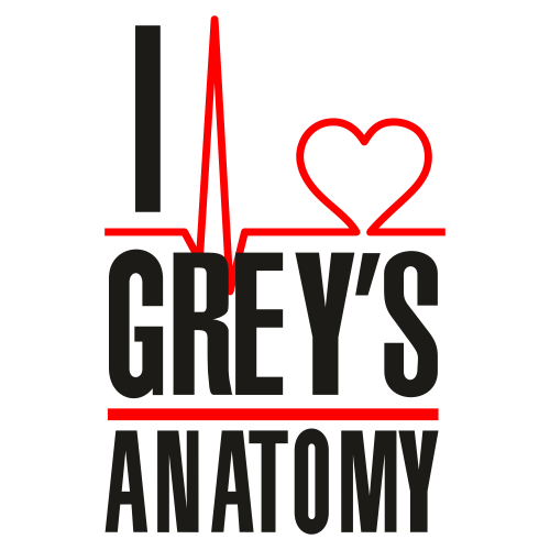 I Love Greys Anatomy Logo Svg