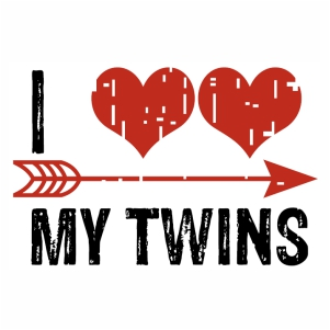 I love my Twins logo svg