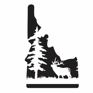 Elk Hunting Vector Mountain Deer Scene Vector Image Vector Psd Png Eps Ai Format Vector Graphic Arts Downloads