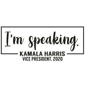 I m Speaking Kamala Harris Clipart