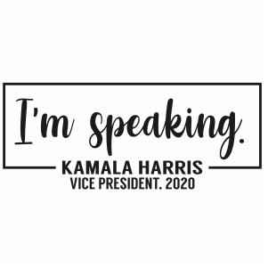 I m Speaking Kamala Harris Clipart