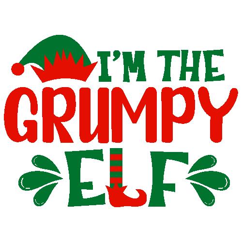 I m The Grumpy Elf Svg