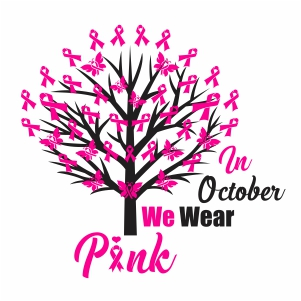 In October We Wear Pink Clipart