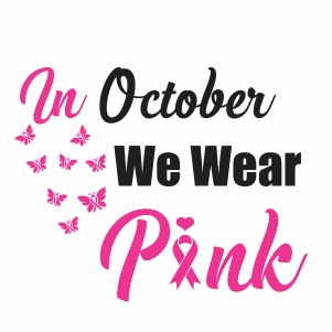 In October We Wear Pink Svg