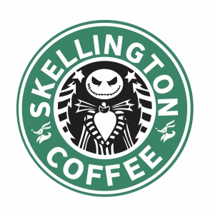 Skellington Coffee Vector
