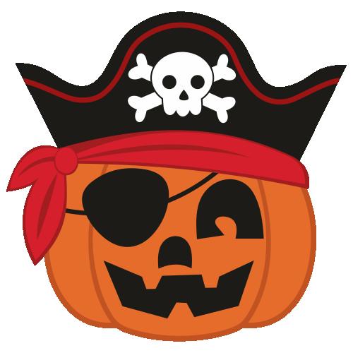 Jack O Pumpkin Pirate Halloween Svg