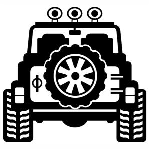 Jeep Wrangler vector clip art