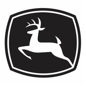 John Deere tractor Logo Vector