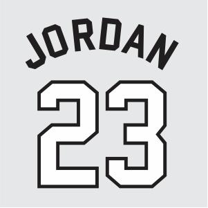 Jordan 23 Jersey Logo Vector