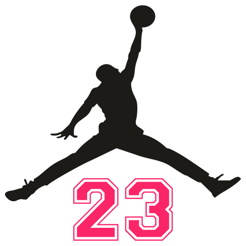 Jordan 23 pink Svg