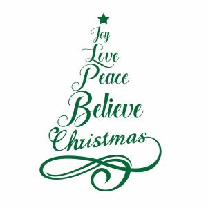 Joy Love Peace Christmas Silhouette