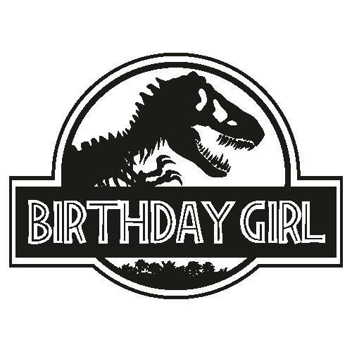 Jurasskicked Birthday Girl Svg
