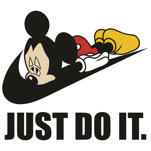 Just do it Mickey Svg