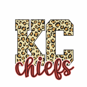 KC Chiefs Leopard svg file