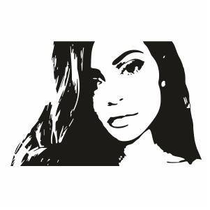 Kim Kardashian Portrait Svg