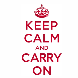 keep calm and carry on logo svg