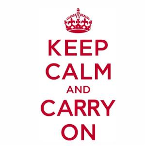 Keep calm logo Vector