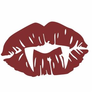 vampire red lips svg file