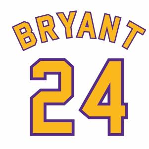 Kobe Bryant 24 Jersey Logo Svg