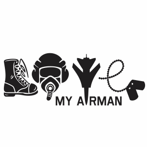 Love Military Arman svg