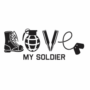 Love my soldier svg