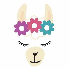 Llama face vector file