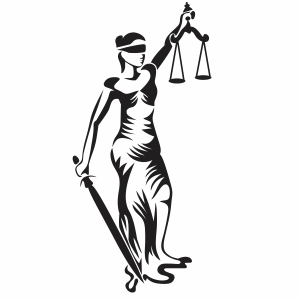 Lady Justice Holding Scales Svg