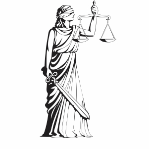 Scales Of Justice Lady svg