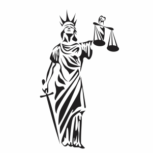 The Statue of Justice svg