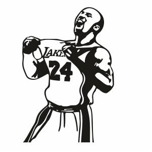 Kobe Bryant 24 Jersey svg