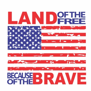 Land Of The Free Because Of The Brave Vector