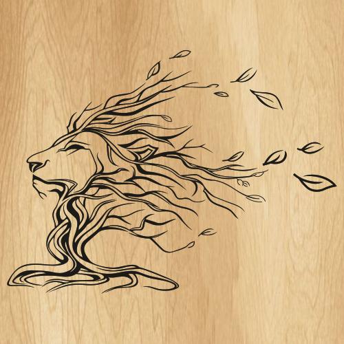 Lion Flower Face Svg