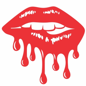 dripping red lips svg