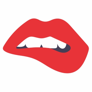 Bitting Lips With Teeth svg file