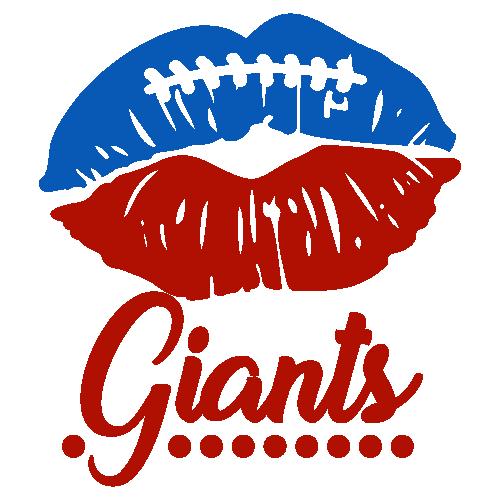 New York Giants Lips Svg