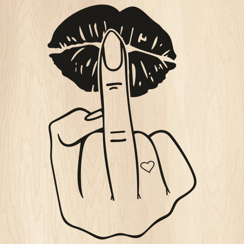 Finger On Lips Svg