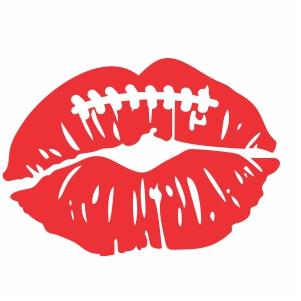 Lips kissing svg cut