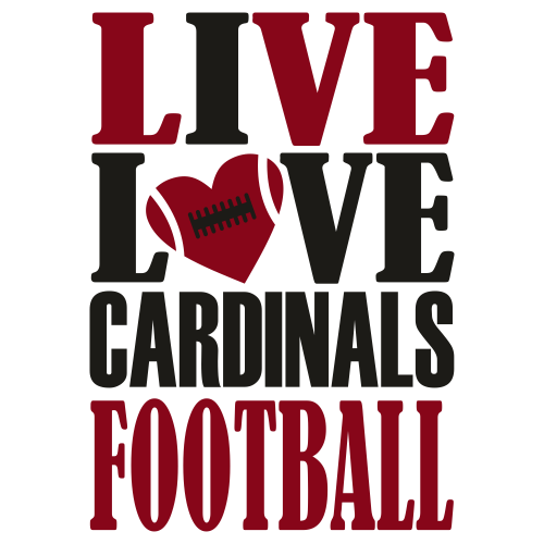 Live Love Cardinals Football Svg