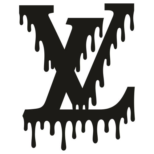 Louis Vuitton Dripping Logo Svg