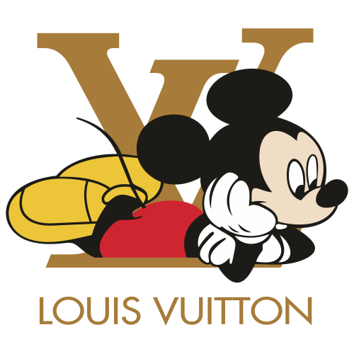 Louis Vuitton Mickey Mouse Svg