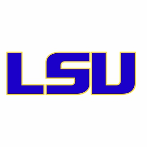 LSU Tigers Football Logo Vector