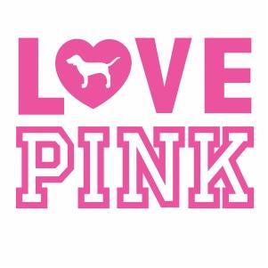 Download Victoria Secret Pink Flag SVG | Pink Flag logo svg cut ...